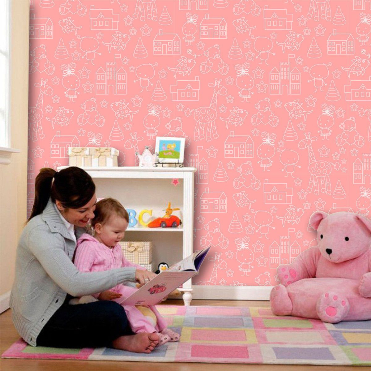 Papel de Parede Infantil 0029 - Adesivos de Parede  - Paredes Decoradas