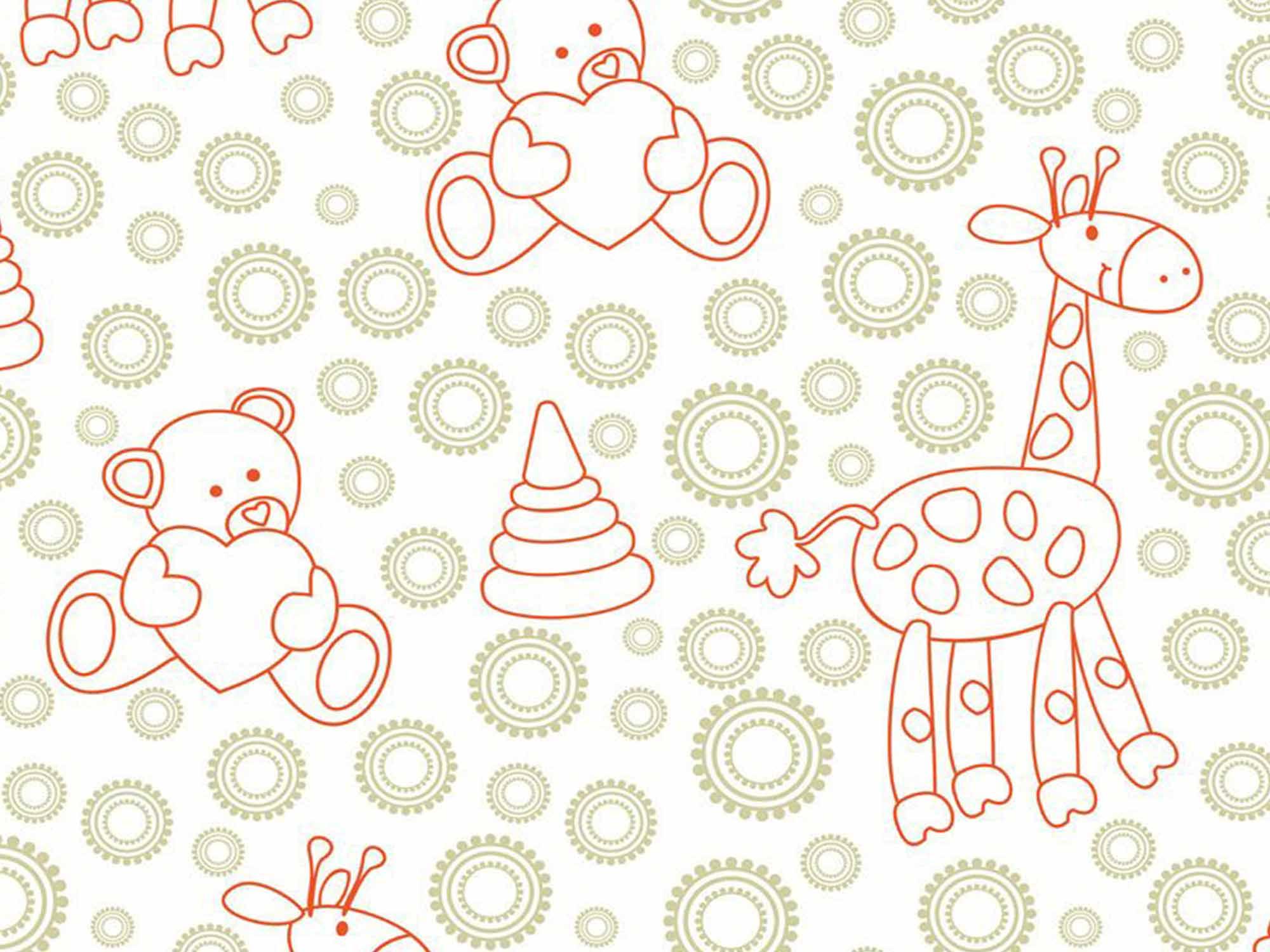 Papel de Parede Infantil 0032 - Adesivos de Parede  - Paredes Decoradas