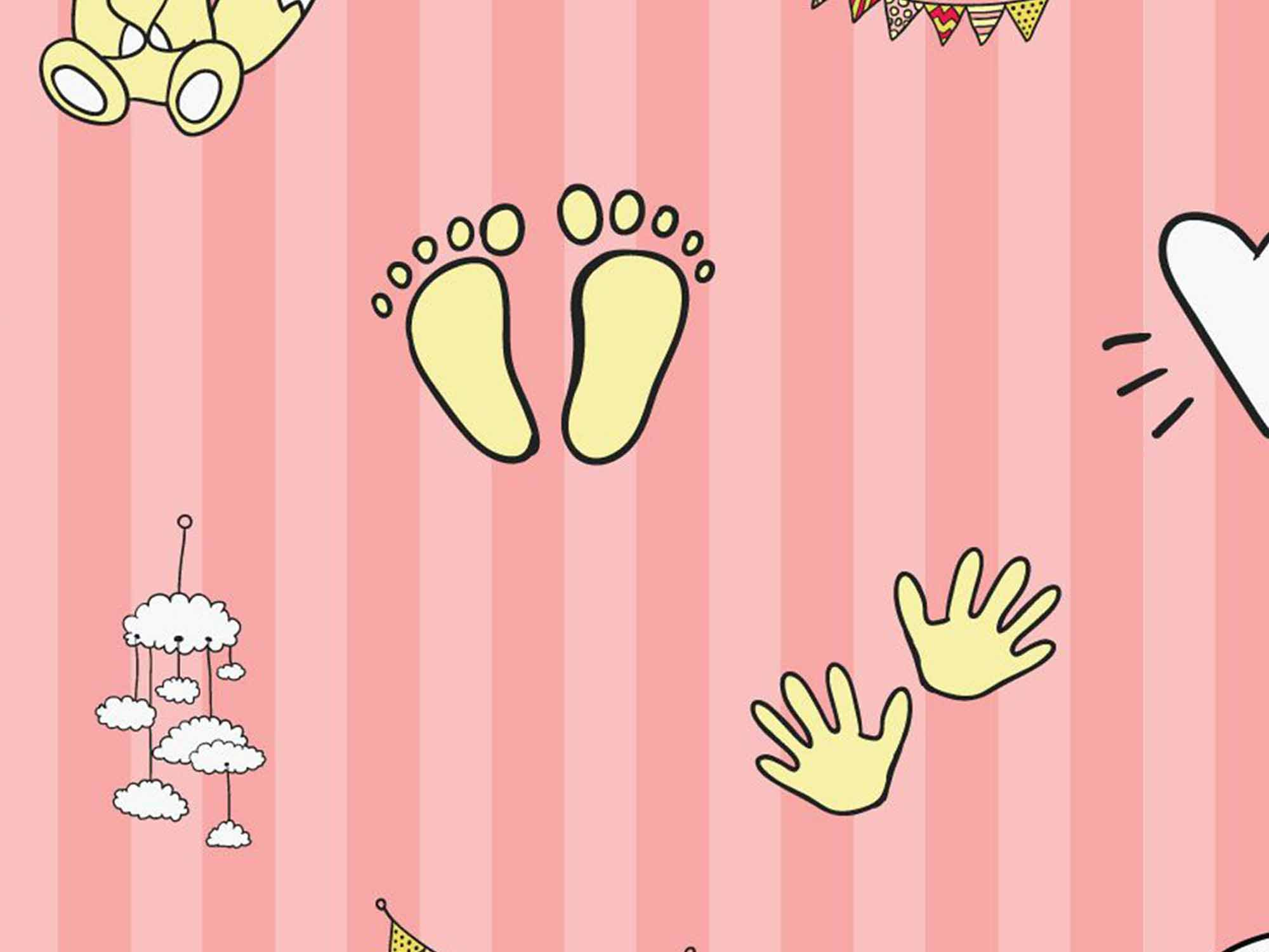 Papel de Parede Infantil 0045 - Adesivos de Parede  - Paredes Decoradas