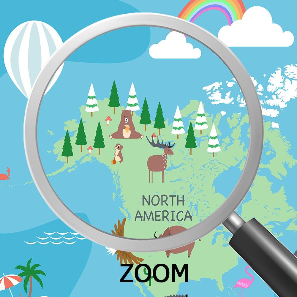 Papel de Parede Infantil Adesivo 3D Mapa Mundi 0017  - Paredes Decoradas