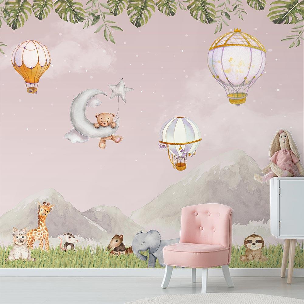 Papel de Parede Infantil Adesivo Vinilico 3D Balões 0008