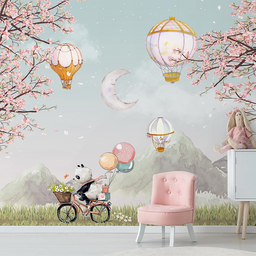 Papel de Parede Infantil Adesivo Vinilico 3D Balões 0011