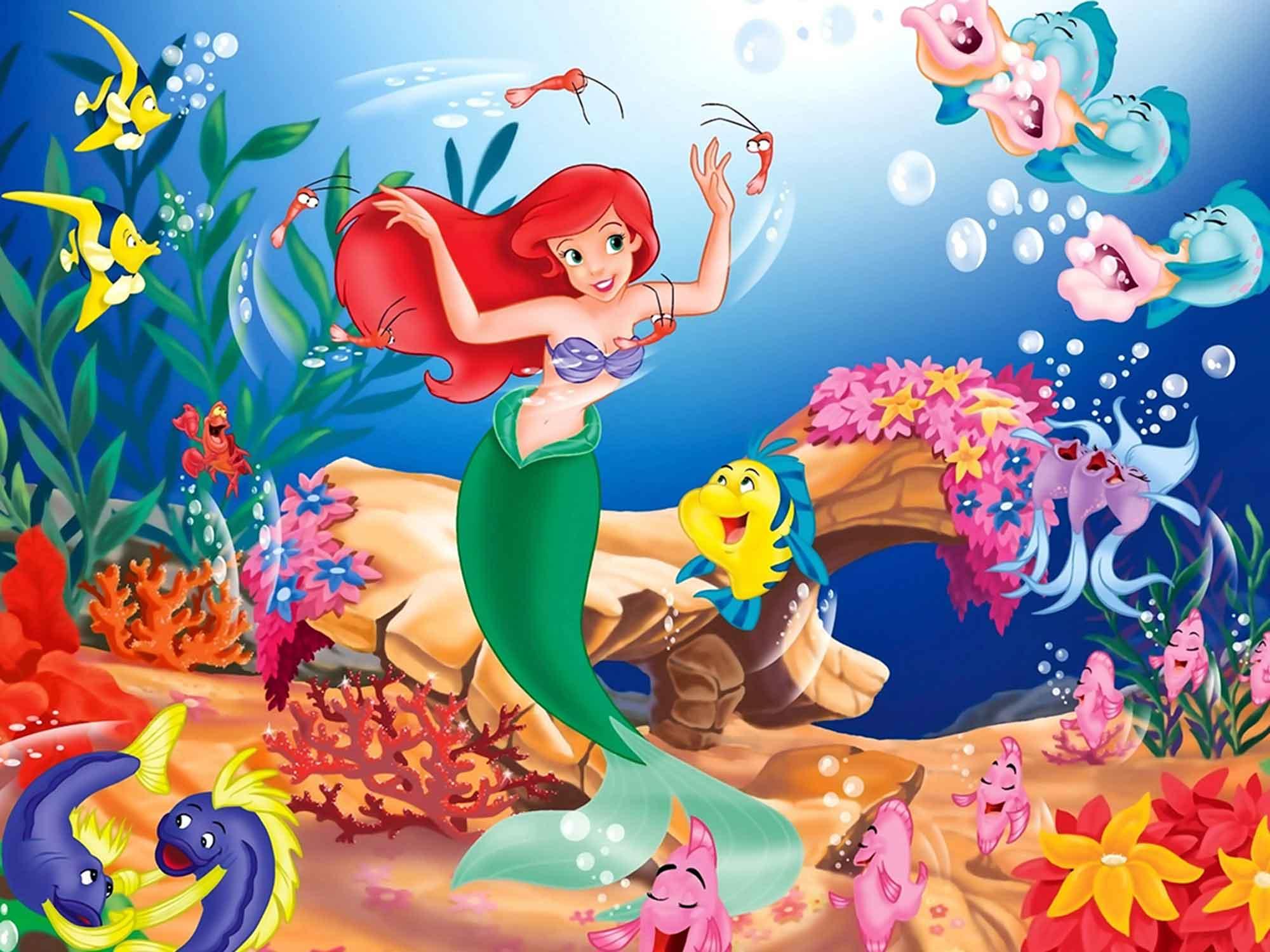 Papel de Parede Infantil Ariel 0005 - papel de parede para quarto  - Paredes Decoradas