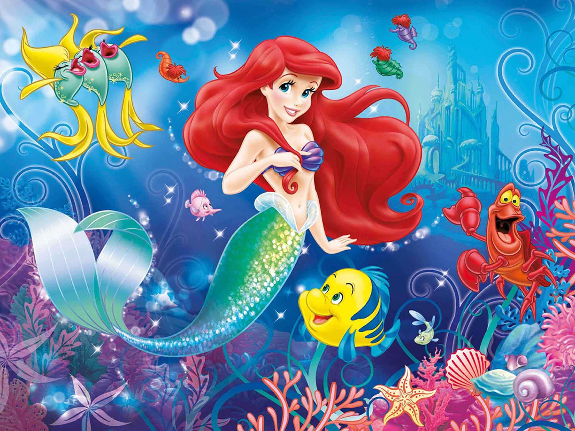 Papel de Parede Infantil Ariel 0007 - papel de parede para quarto  - Paredes Decoradas