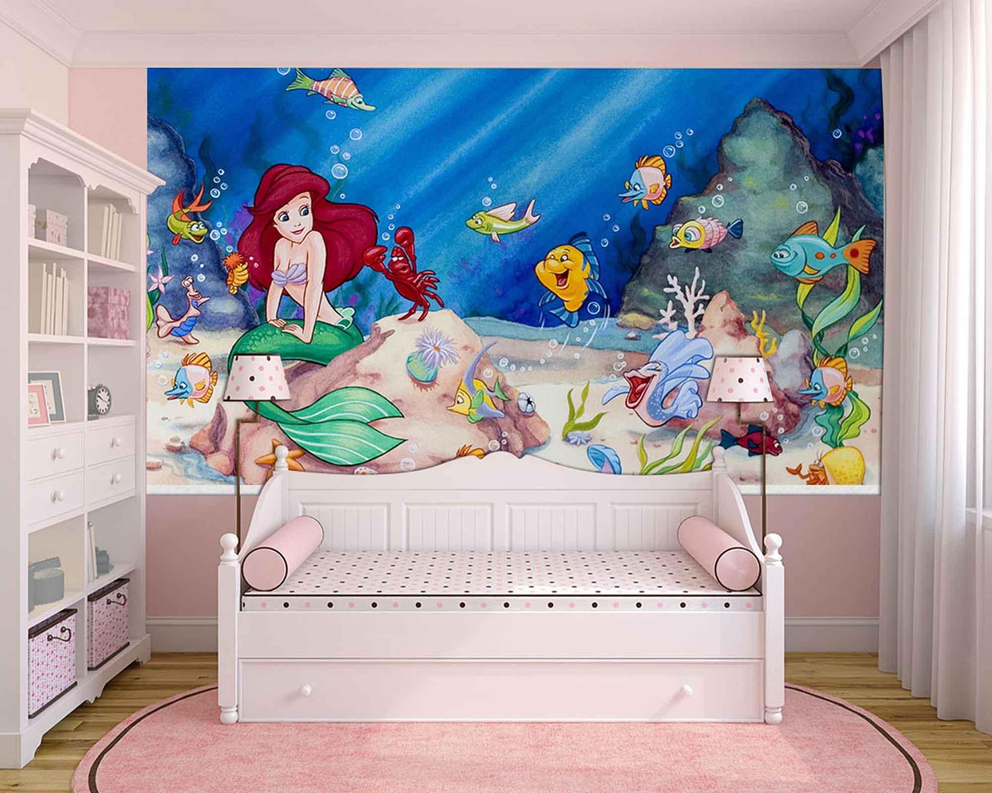 Papel de Parede Infantil Ariel 0008 - papel de parede para quarto  - Paredes Decoradas