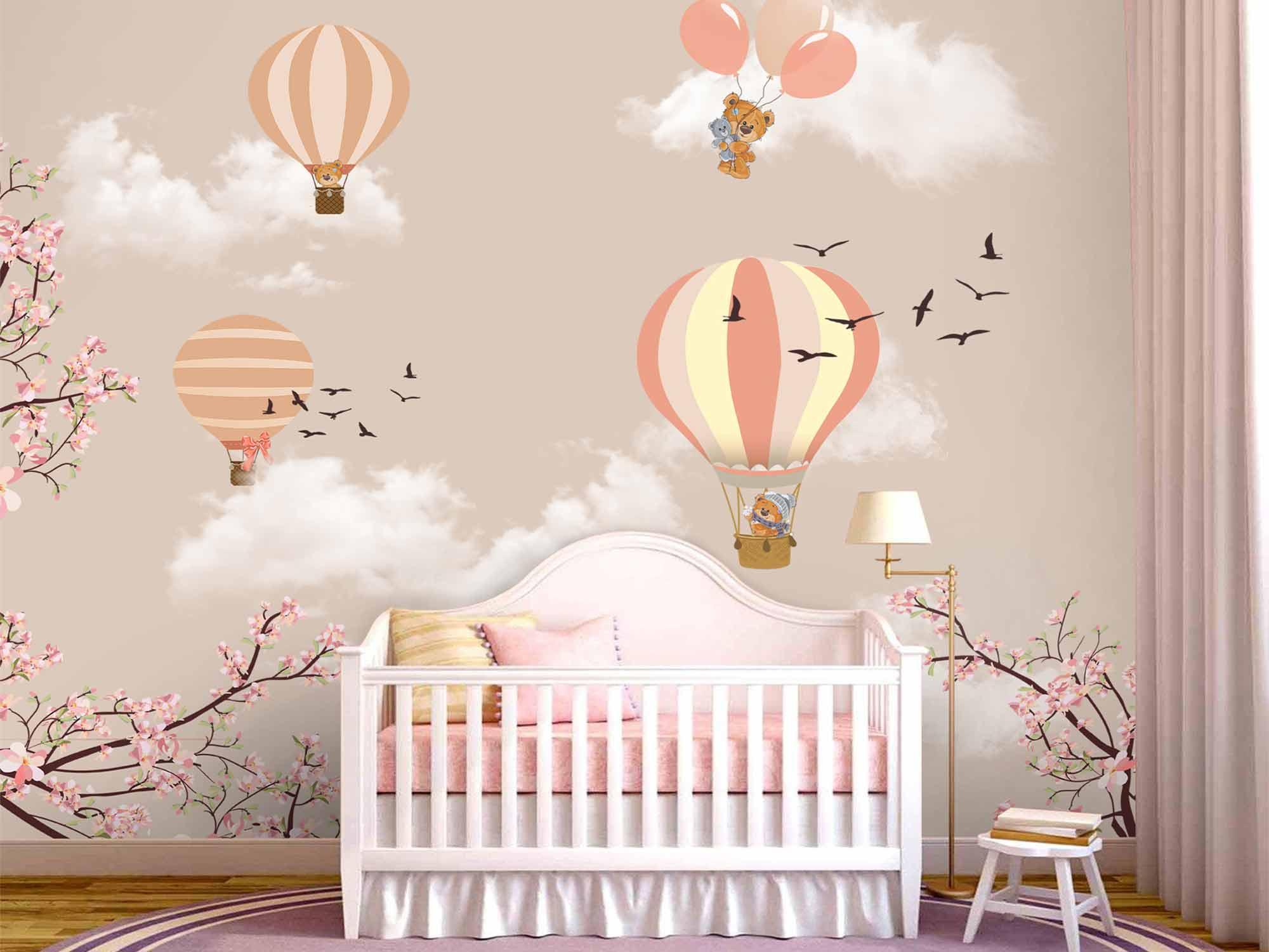 Papel de Parede Infantil Balões  0002 - Adesivo de Parede