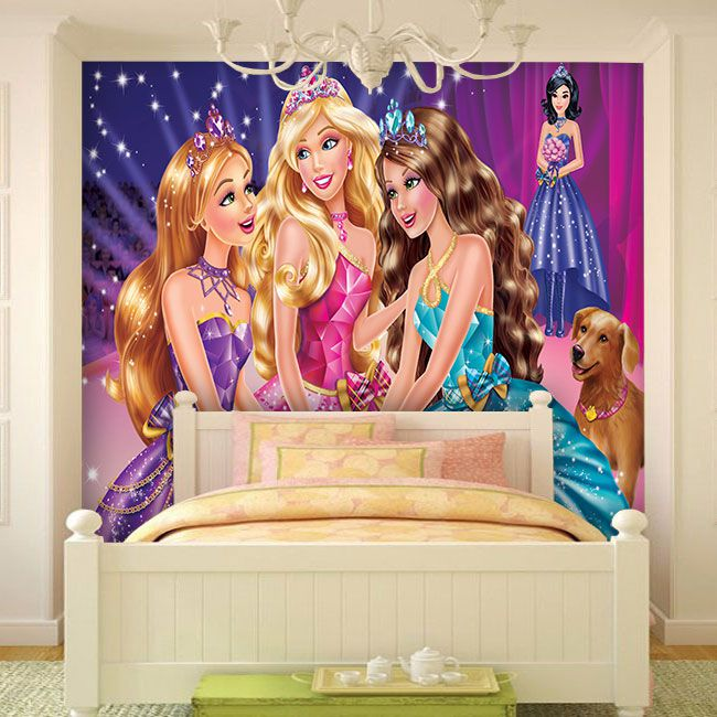 Papel De Parede Infantil Barbie 0013 - Papel de Parede para Quarto