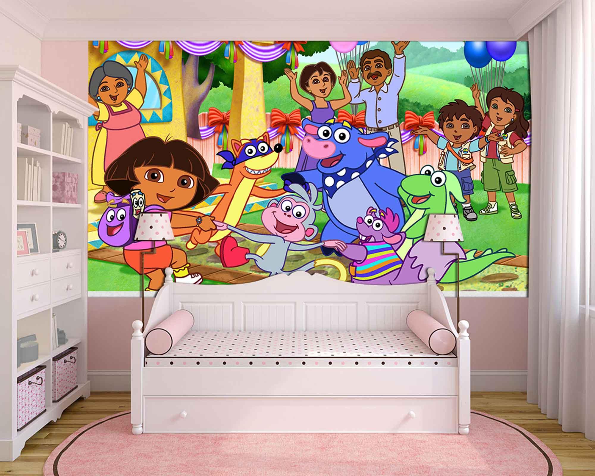 Papel de Parede Infantil Dora Aventureira 0004  - Paredes Decoradas