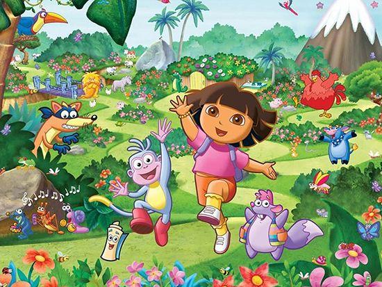Papel de Parede Infantil Dora Aventureira 0005  - Paredes Decoradas