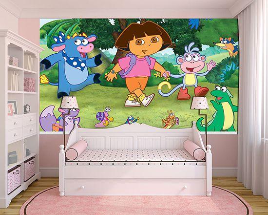 Papel de Parede Infantil Dora Aventureira 0006  - Paredes Decoradas