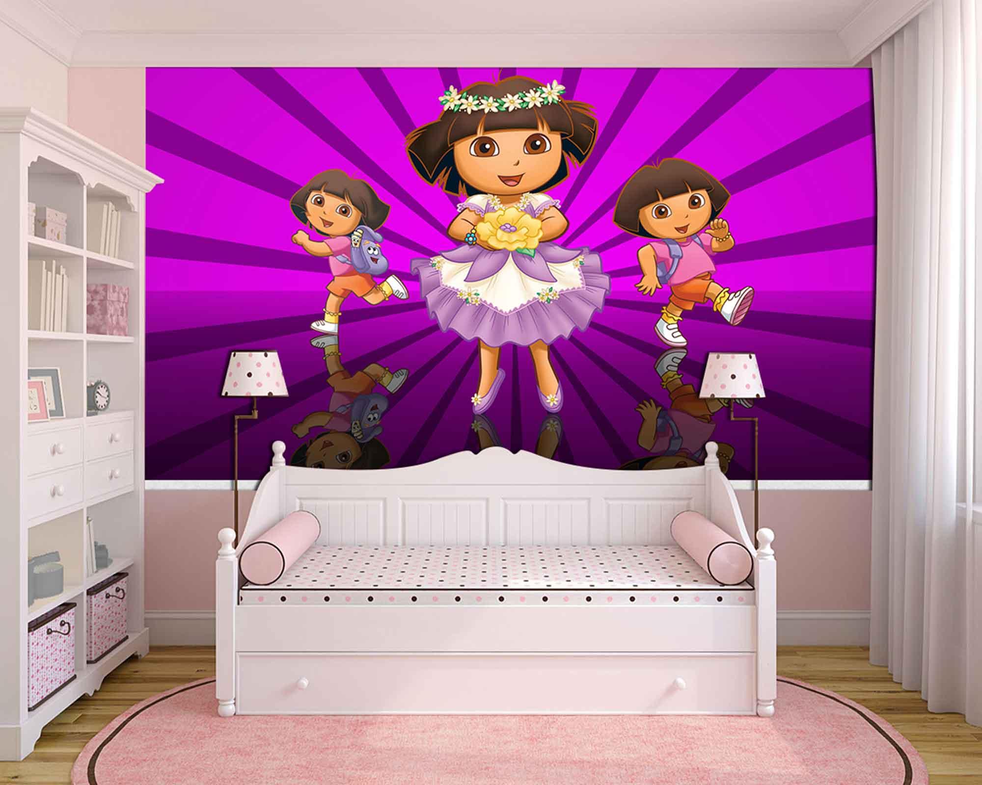 Papel de Parede Infantil Dora Aventureira 0008  - Paredes Decoradas