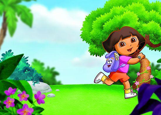 Papel de Parede Infantil Dora Aventureira 0009  - Paredes Decoradas