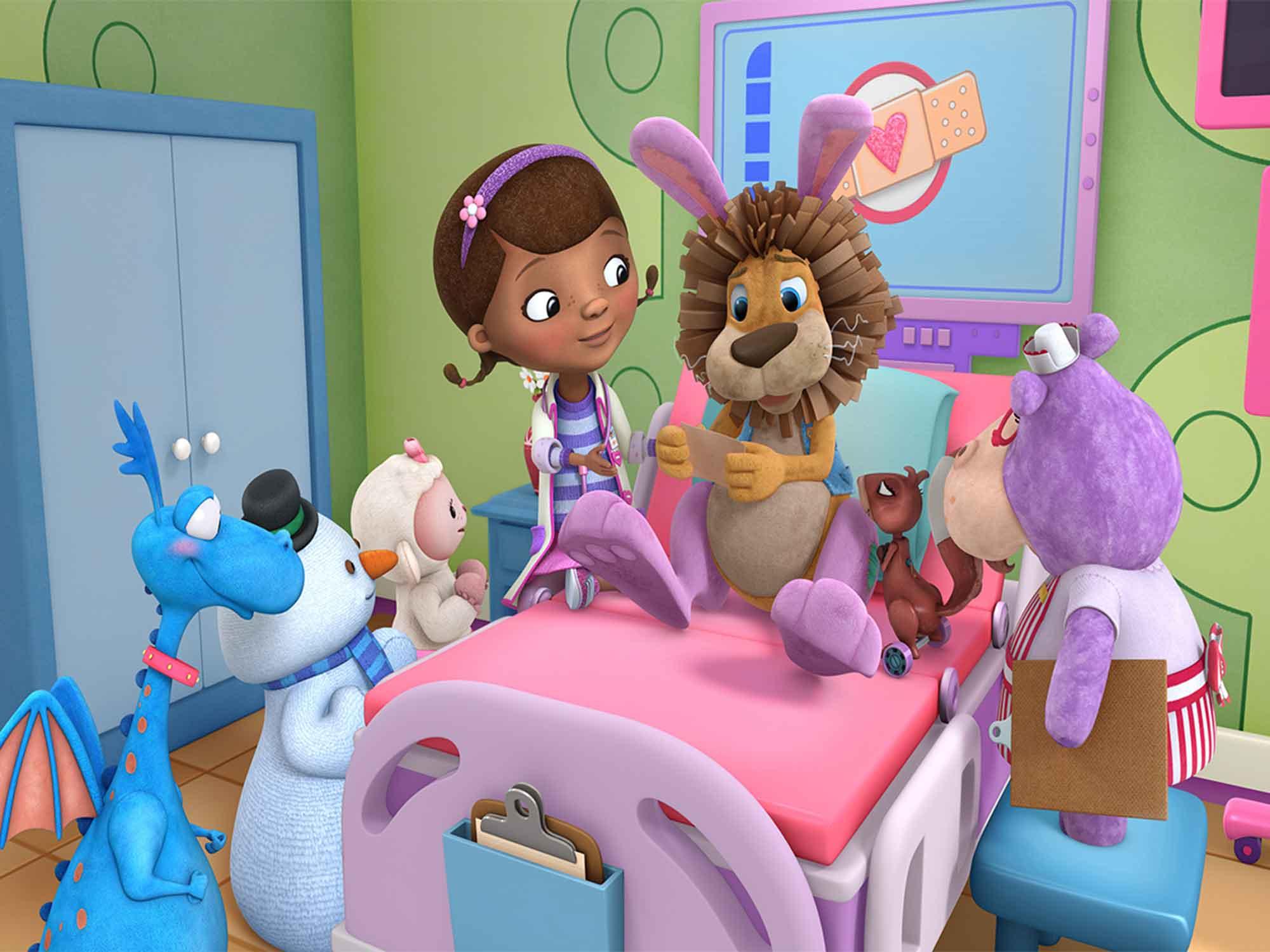 Papel de Parede Infantil Dra Brinquedo 0001  - Paredes Decoradas