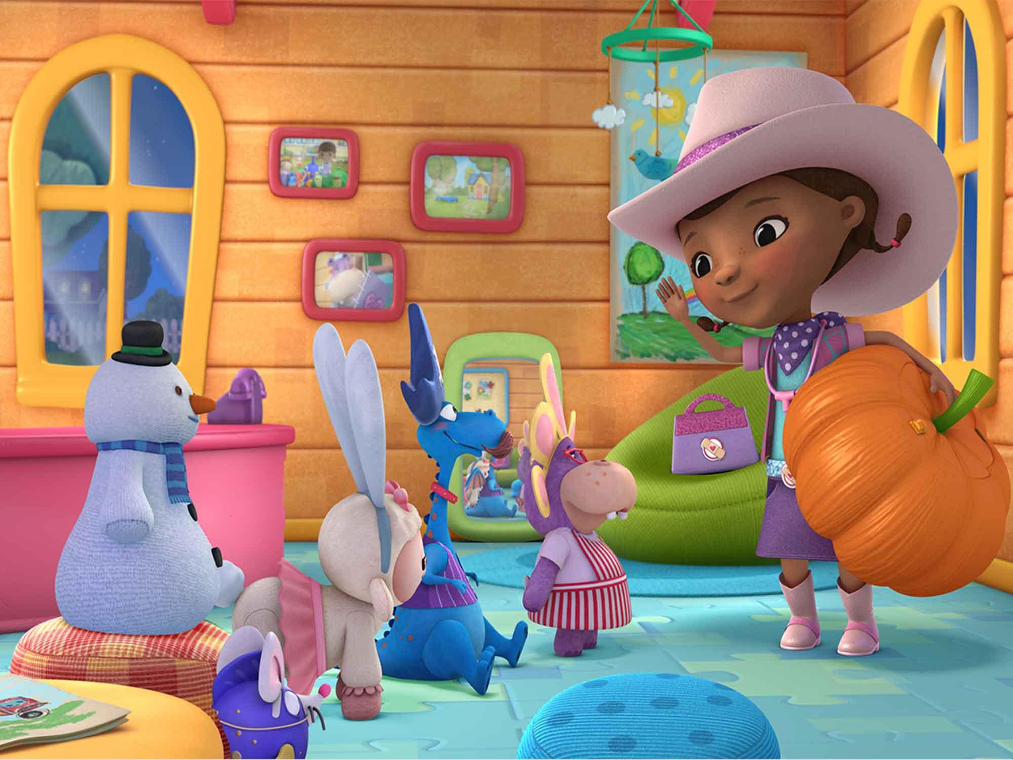 Papel de Parede Infantil Dra Brinquedo 0004  - Paredes Decoradas