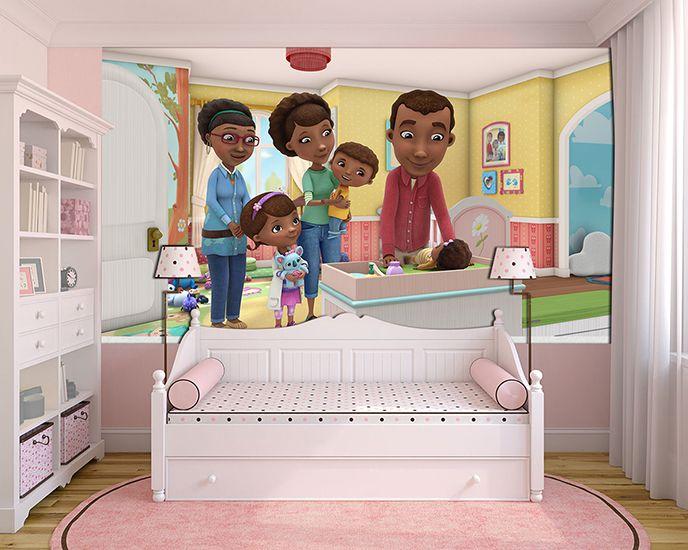 Papel de Parede Infantil Dra Brinquedo 0006  - Paredes Decoradas