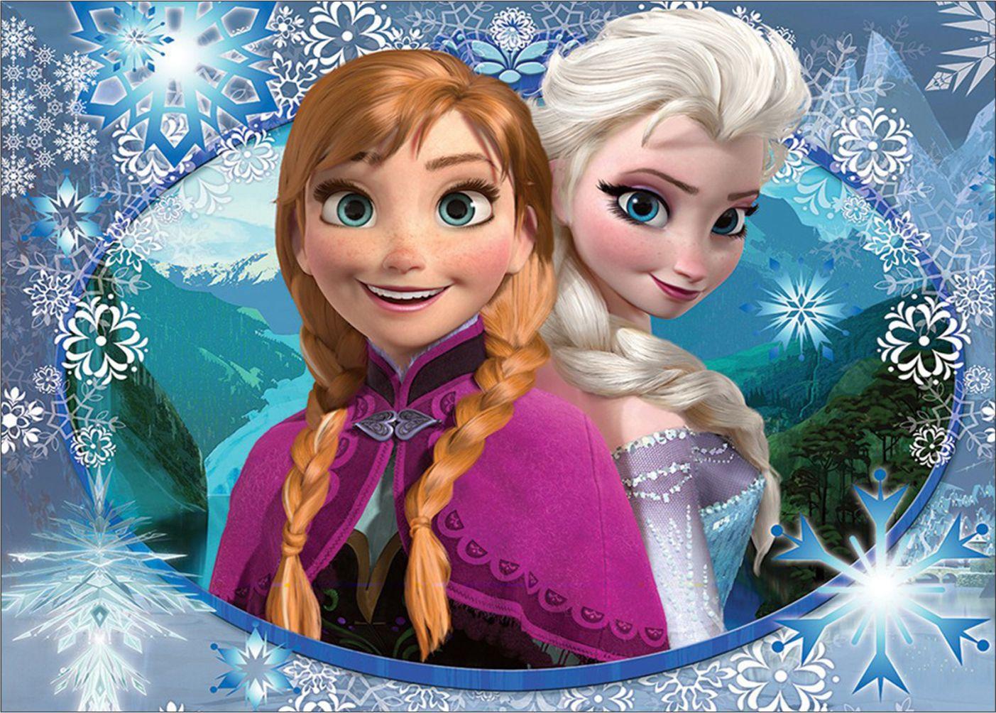 Papel de Parede Infantil Frozen 0001 - Papel de Parede para Quarto  - Paredes Decoradas
