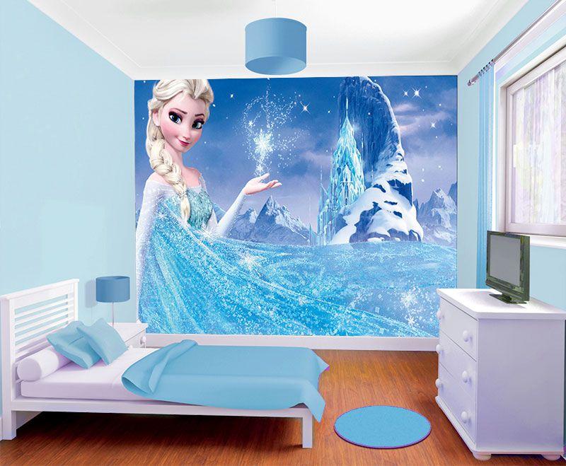 Papel de Parede Infantil Frozen 0004 - Papel de Parede para Quarto  - Paredes Decoradas