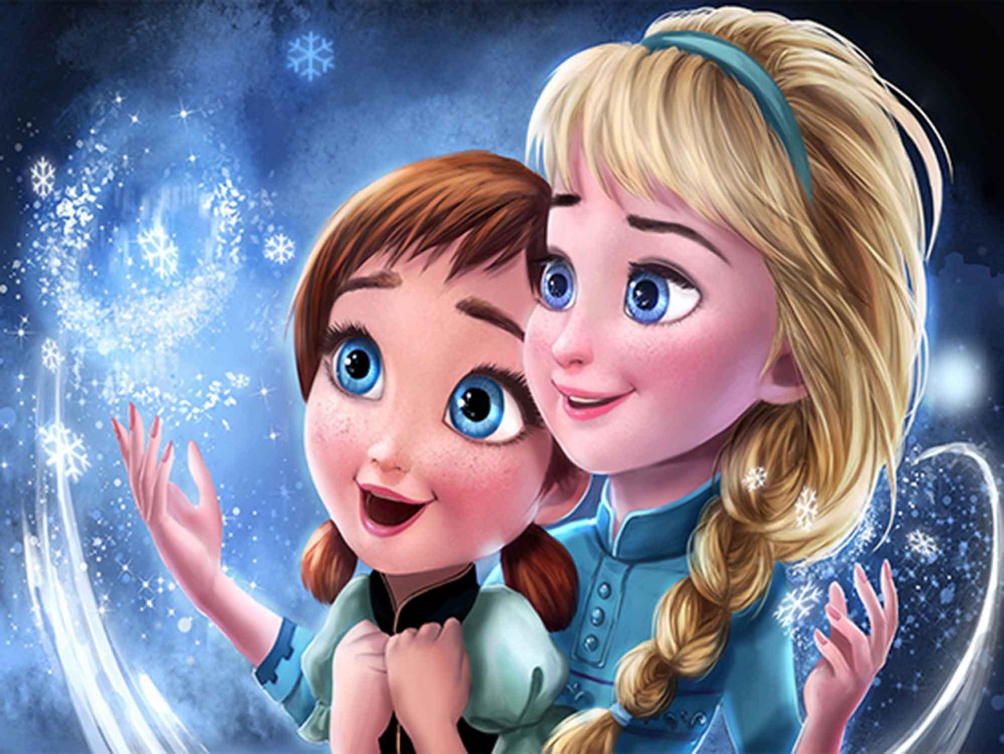 Papel de Parede Infantil Frozen 0005 - Papel de Parede para Quarto  - Paredes Decoradas