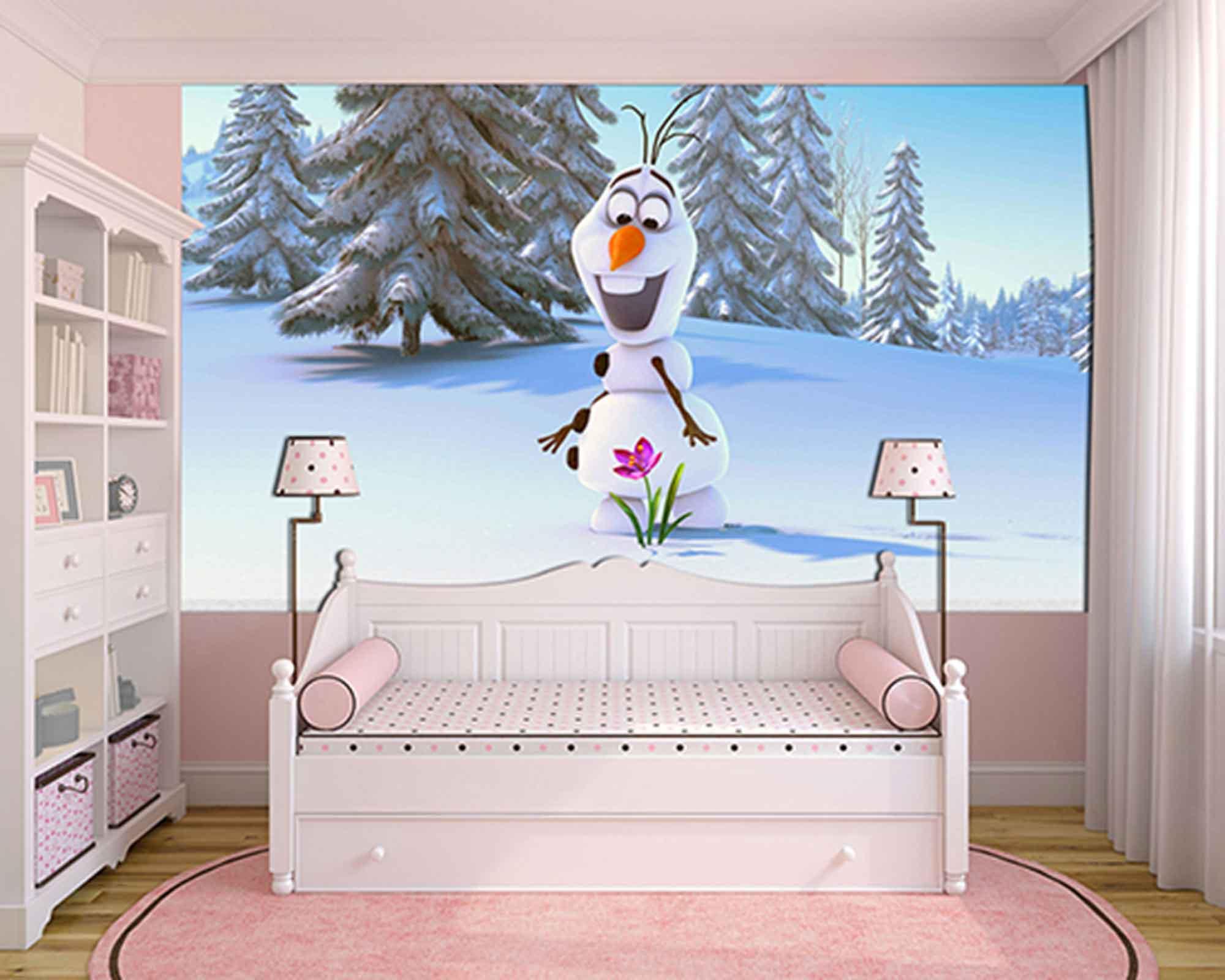 Papel de Parede Infantil Frozen 0007 - Papel de Parede para Quarto  - Paredes Decoradas