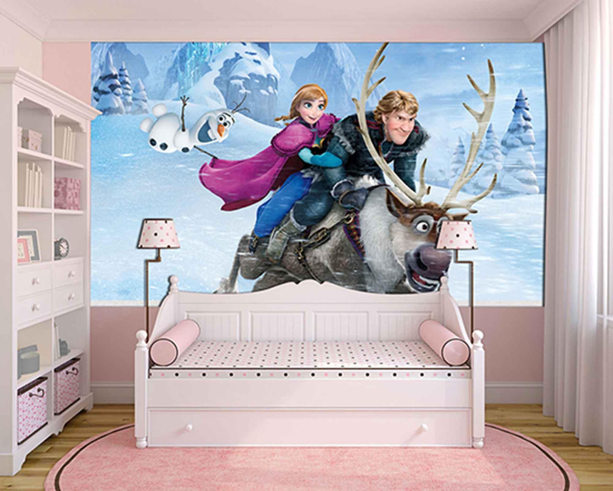 Papel de Parede Infantil Frozen 0010 - Papel de Parede para Quarto