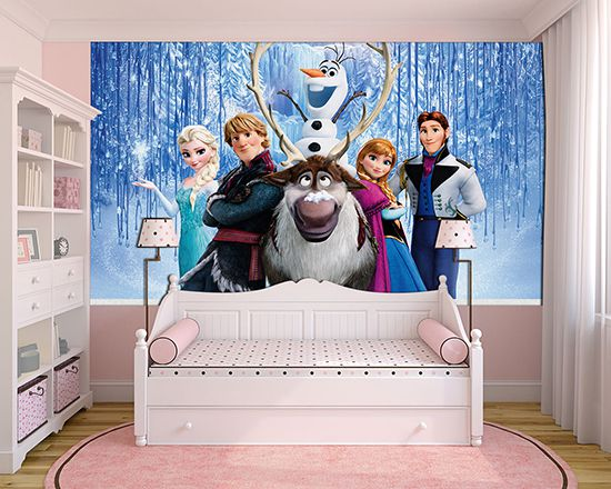 Papel de Parede Infantil Frozen 0012 - Papel de Parede para Quarto  - Paredes Decoradas