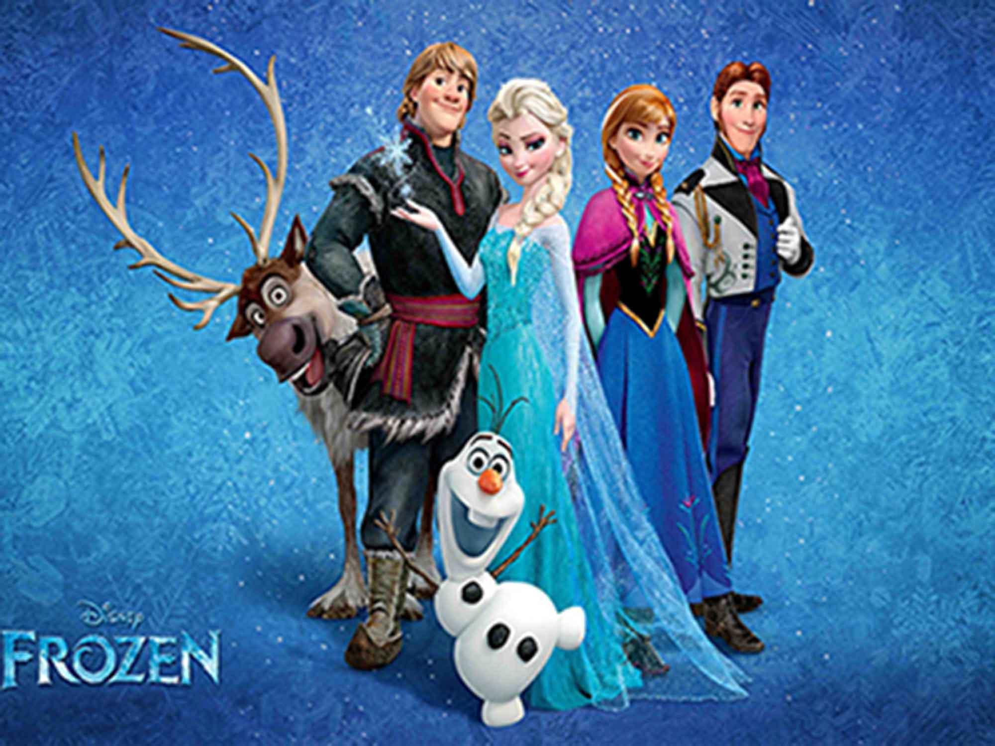 Papel de Parede Infantil Frozen 0013 - Papel de Parede para Quarto  - Paredes Decoradas