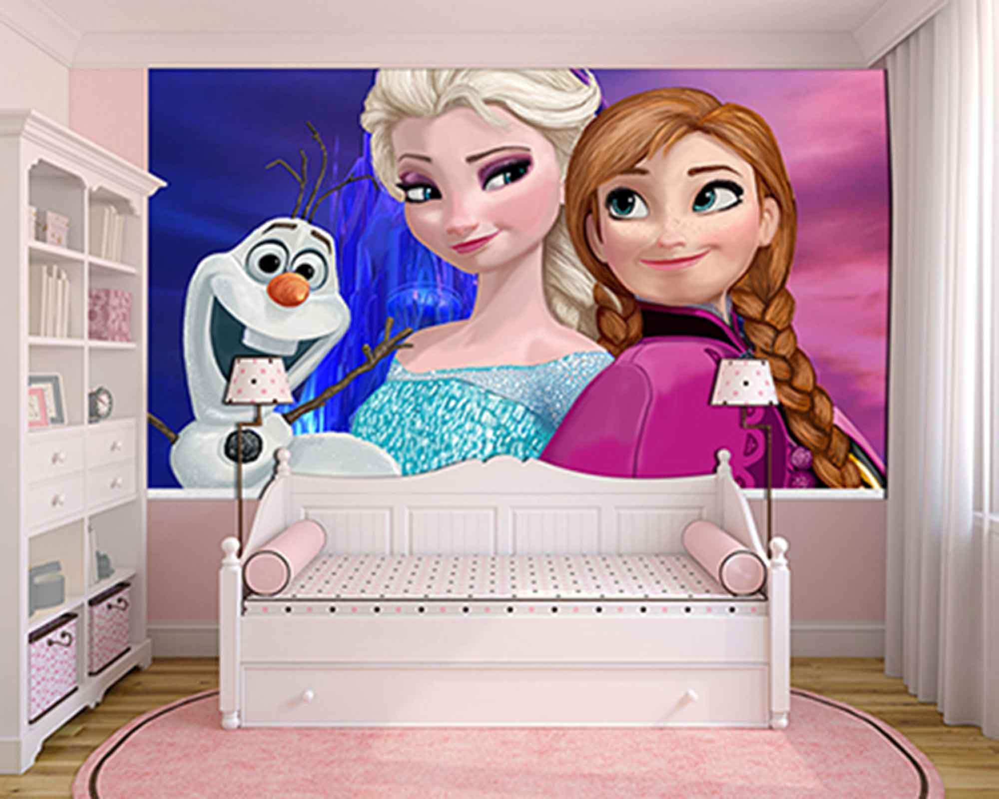 Papel de Parede Infantil Frozen 0014 - Papel de Parede para Quarto  - Paredes Decoradas