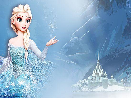 Papel de Parede Infantil Frozen 0015 - Papel de Parede para Quarto  - Paredes Decoradas