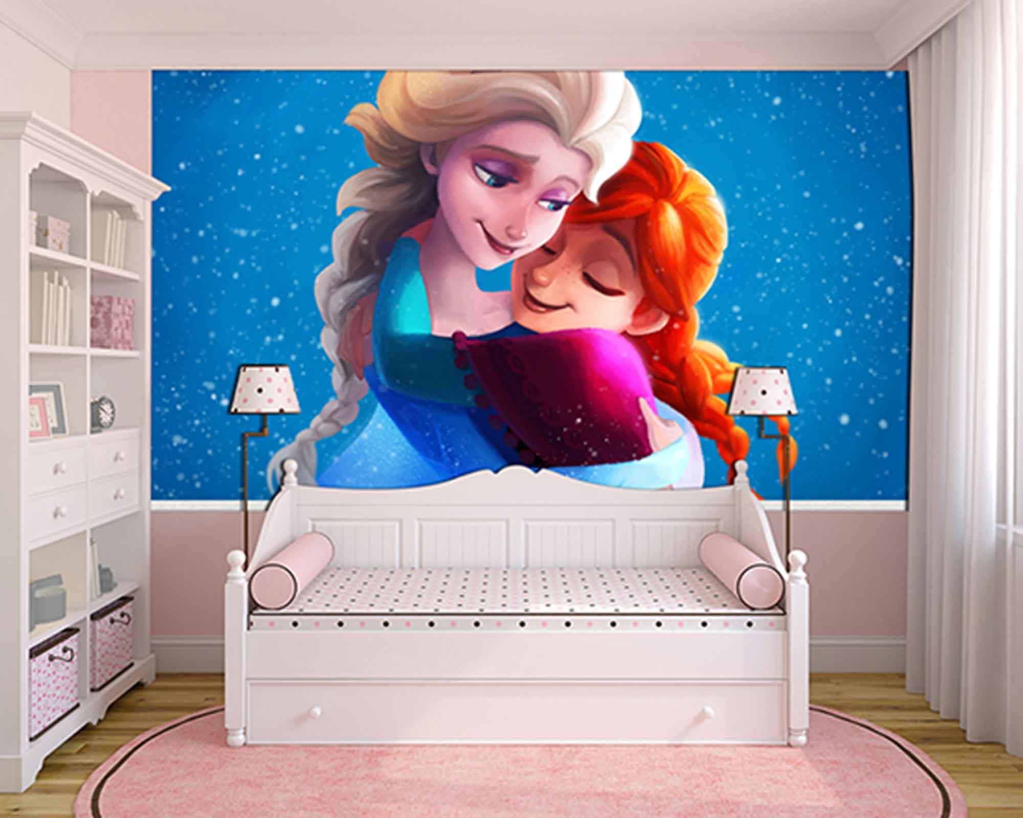 Papel de Parede Infantil Frozen 0016 - Papel de Parede para Quarto  - Paredes Decoradas