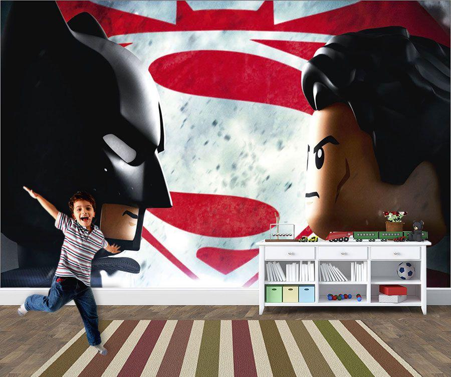 Papel de Parede Infantil Heróis lego 0001  - Paredes Decoradas