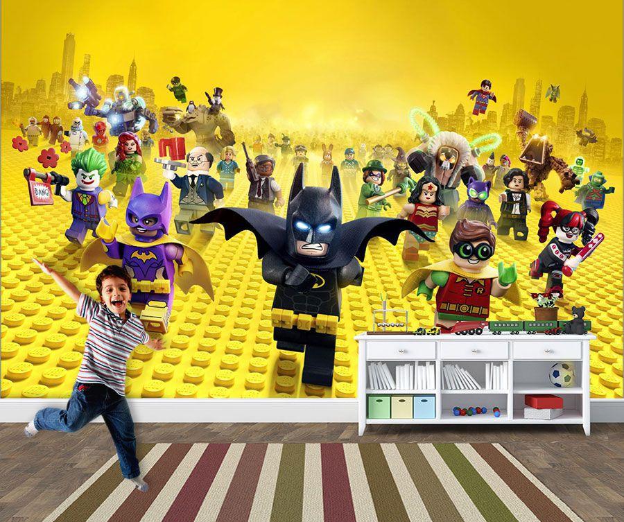 Papel de Parede Infantil Heróis lego 0002  - Paredes Decoradas
