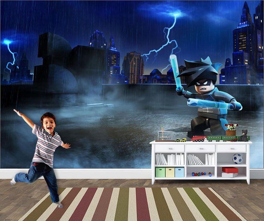 Papel de Parede Infantil Heróis lego 0003  - Paredes Decoradas