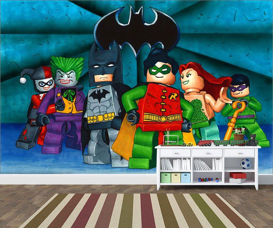 Papel de Parede Infantil Heróis lego 0009
