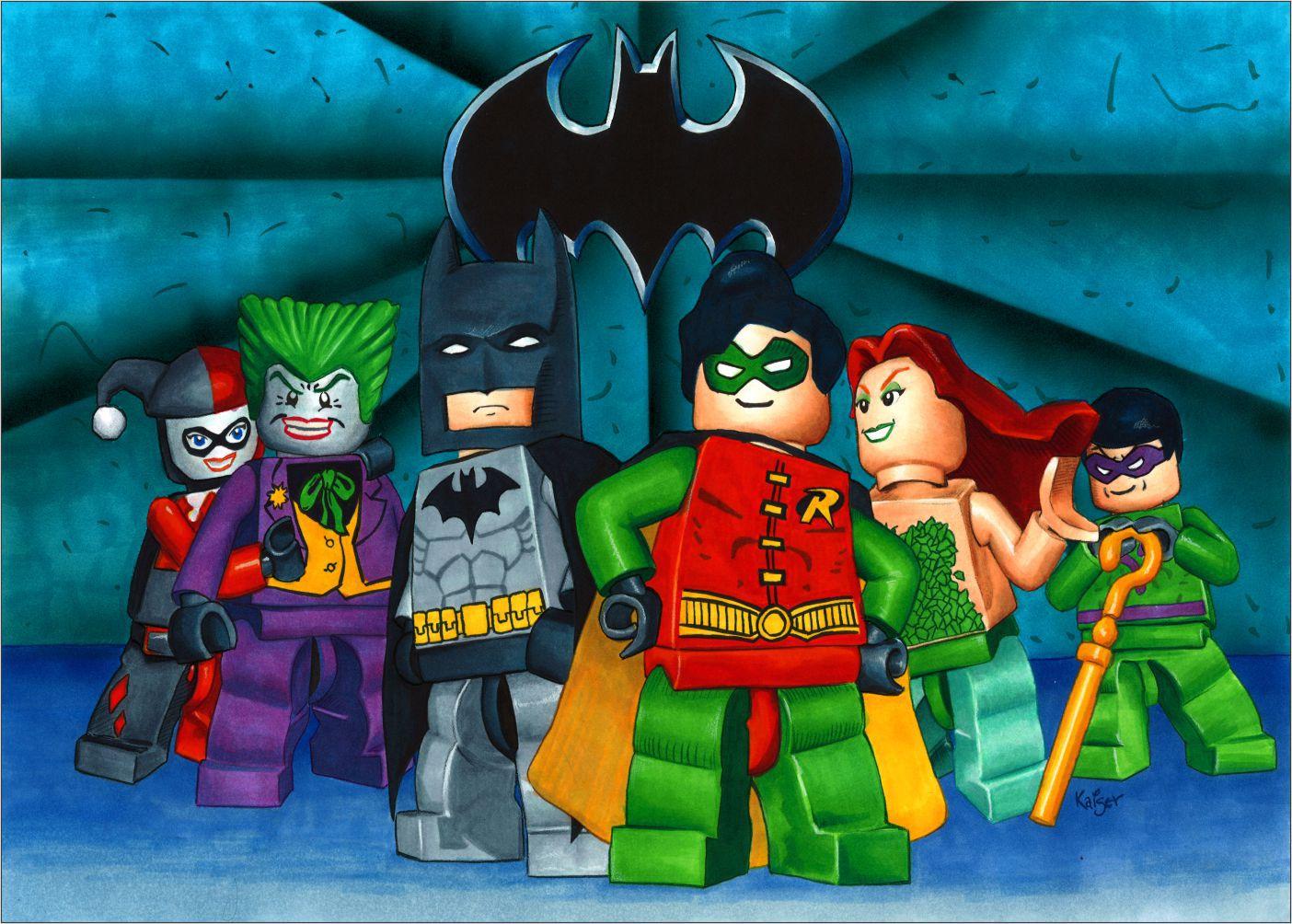 Papel de Parede Infantil Heróis lego 0009  - Paredes Decoradas