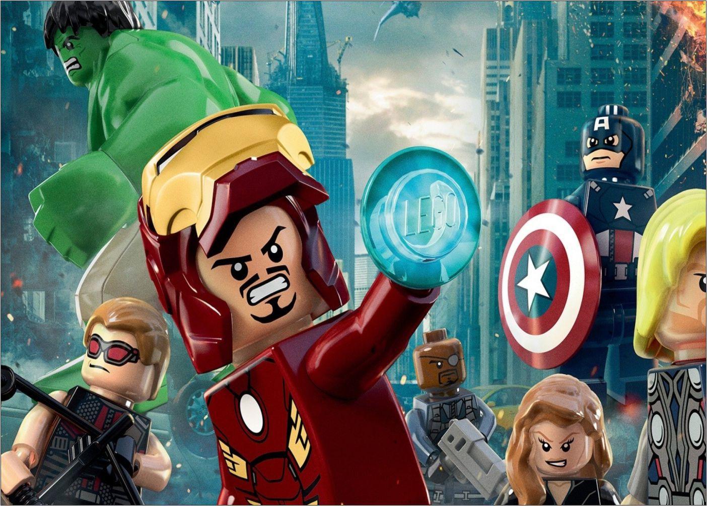 Papel de Parede Infantil Heróis lego 0010  - Paredes Decoradas