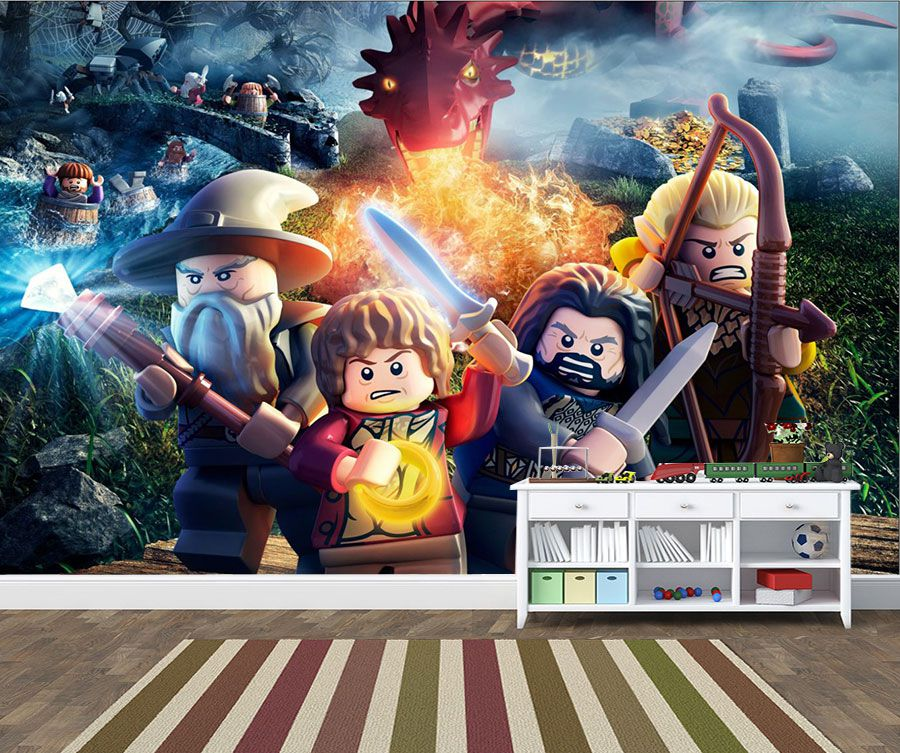 Papel de Parede Infantil Heróis lego 0012