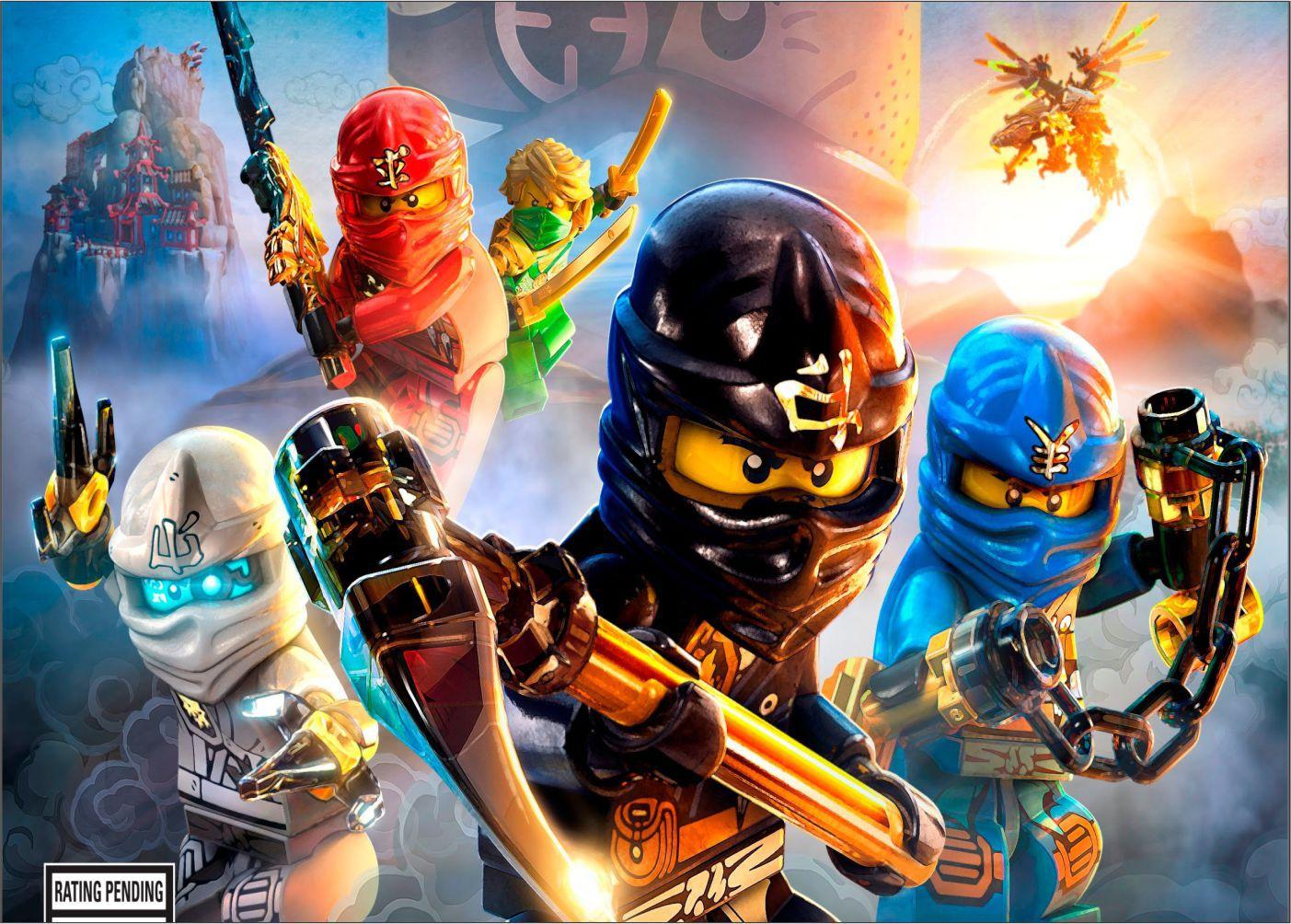 Papel de Parede Infantil Heróis lego 0013  - Paredes Decoradas
