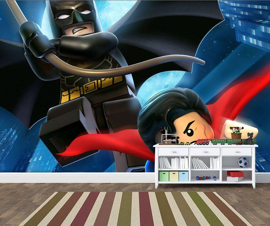 Papel de Parede Infantil Heróis lego 0017  - Paredes Decoradas