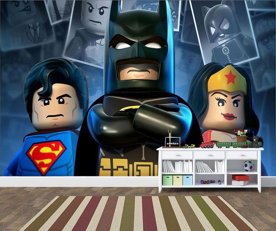 Papel de Parede Infantil Heróis lego 0018