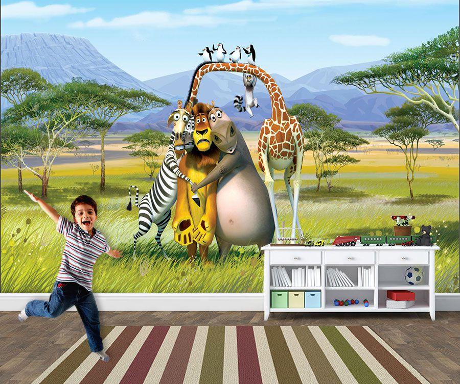 Papel de Parede Infantil Madagascar 0005