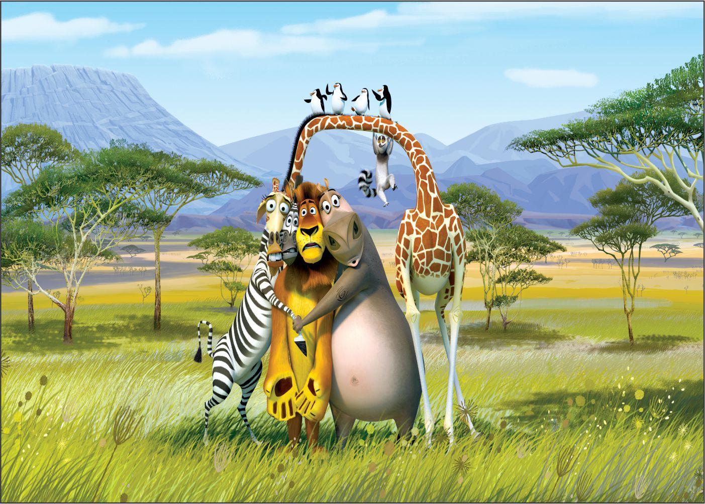 Papel de Parede Infantil Madagascar 0005  - Paredes Decoradas