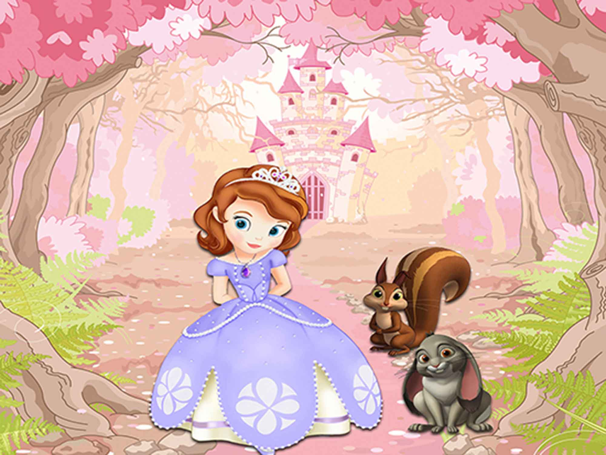 Papel de Parede Infantil Princesa Sofia  0001  - Paredes Decoradas