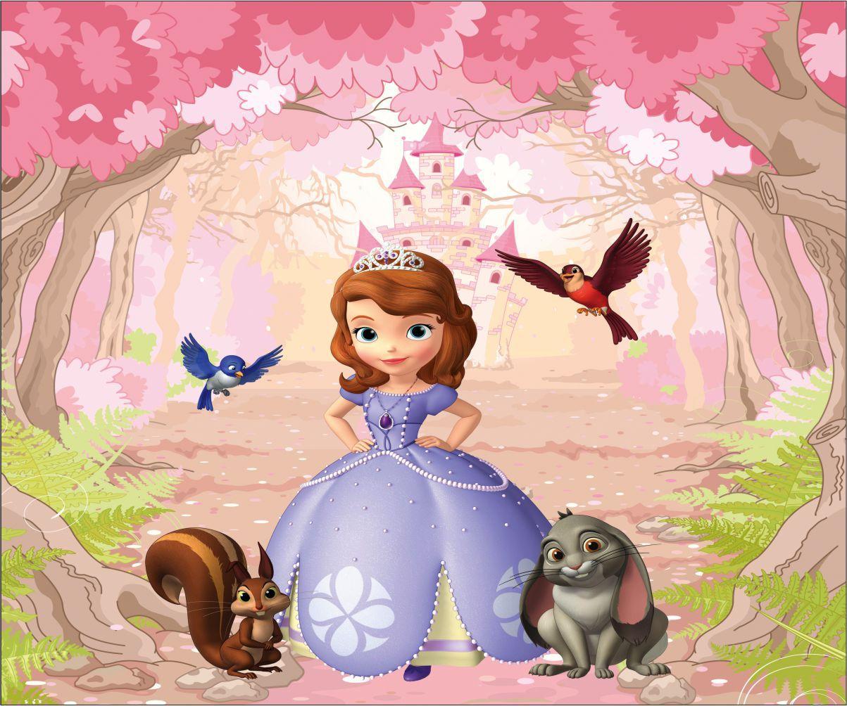 Papel de Parede Infantil Princesa Sofia  0002  - Paredes Decoradas