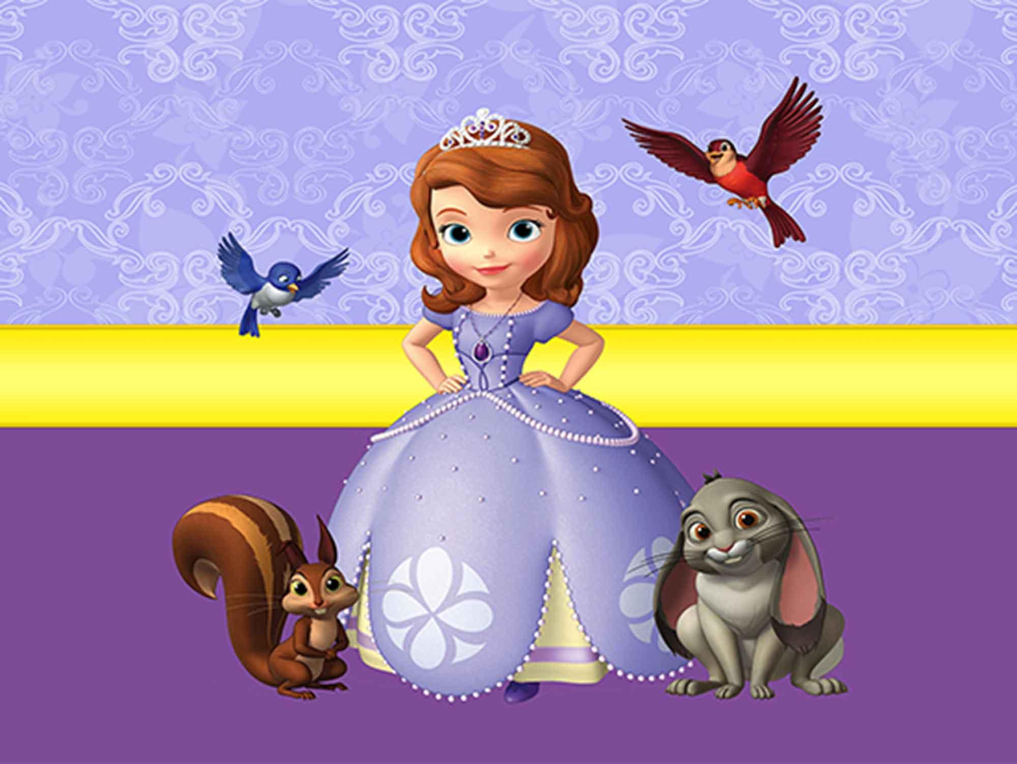 Papel de Parede Infantil Princesa Sofia  0004  - Paredes Decoradas
