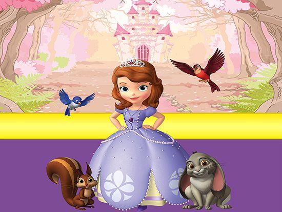 Papel de Parede Infantil Princesa Sofia  0005  - Paredes Decoradas