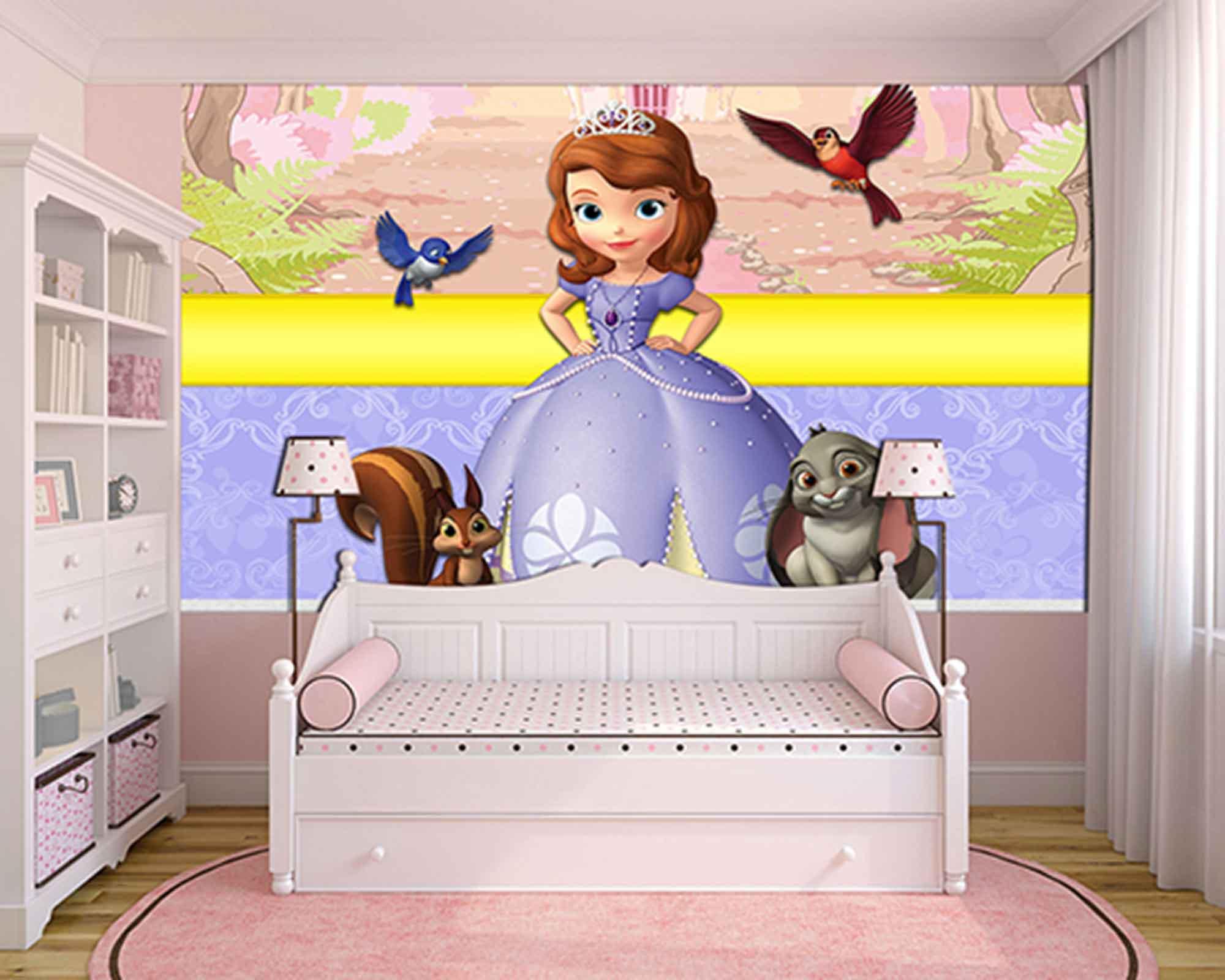 Papel de Parede Infantil Princesa Sofia  0006  - Paredes Decoradas