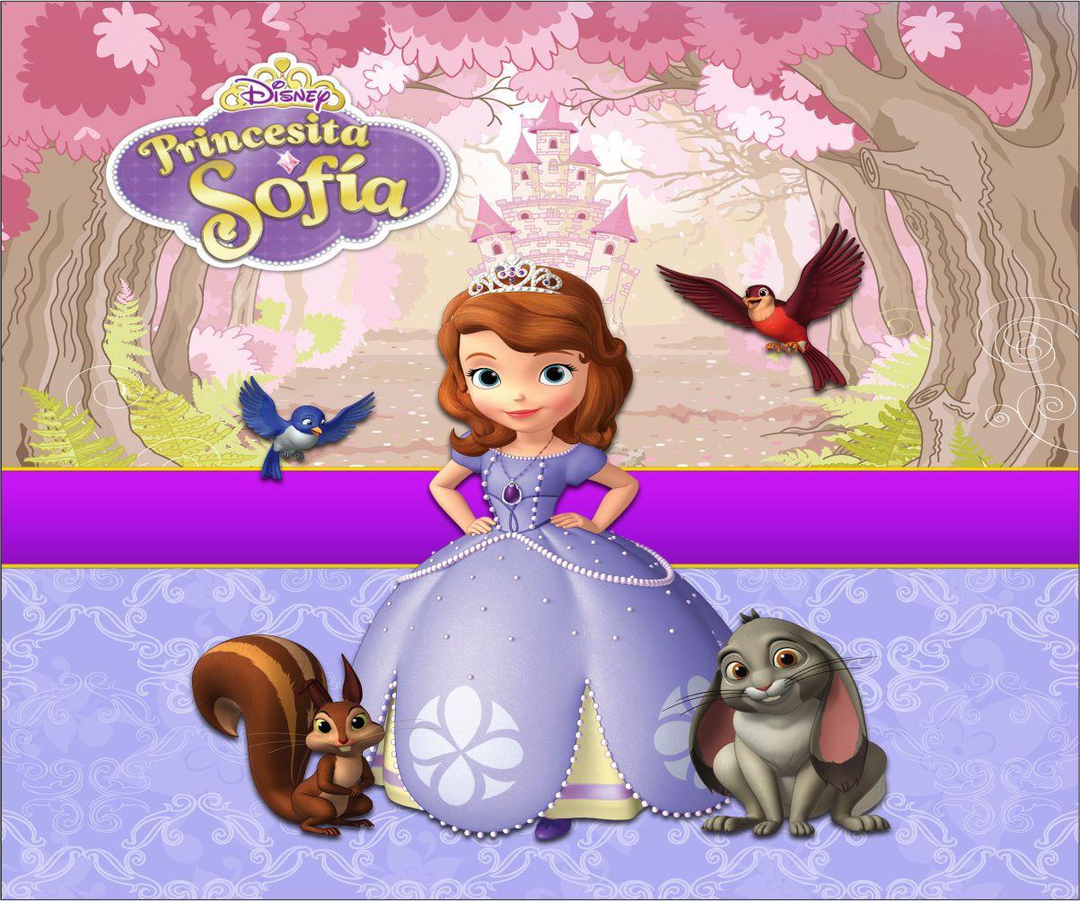 Papel de Parede Infantil Princesa Sofia  0009  - Paredes Decoradas