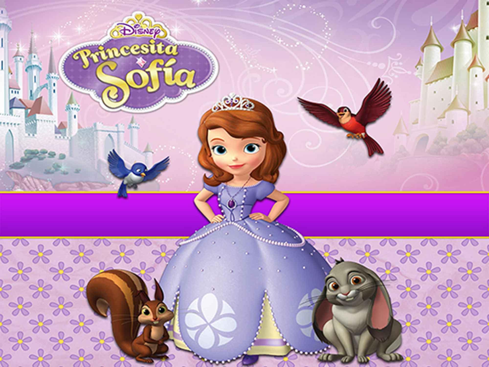 Papel de Parede Infantil Princesa Sofia  0011  - Paredes Decoradas