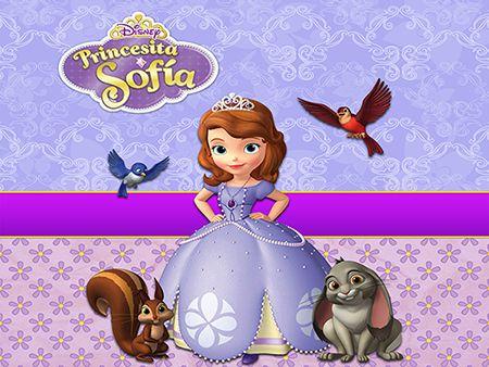 Papel de Parede Infantil Princesa Sofia  0012  - Paredes Decoradas