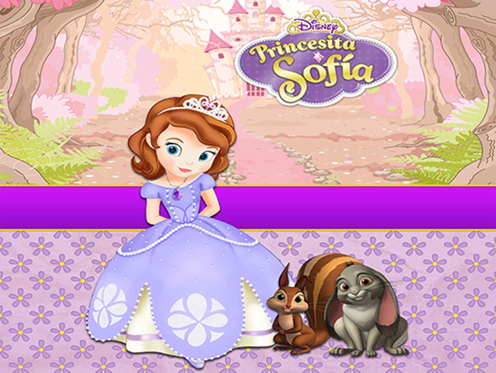 Papel de Parede Infantil Princesa Sofia  0013  - Paredes Decoradas